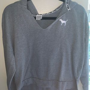 I'm selling a Vs/Pink gray sweater size: Xs